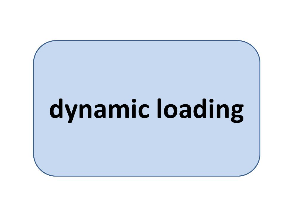loading a program into memory on demand dynamic loading