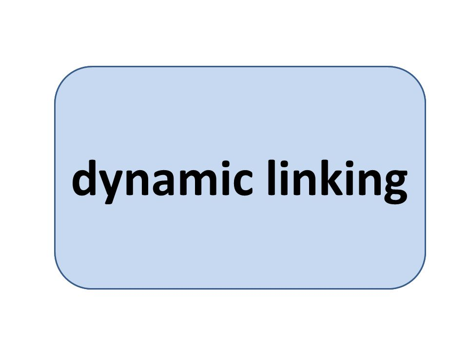 library functions can be connected at load-time dynamic linking
