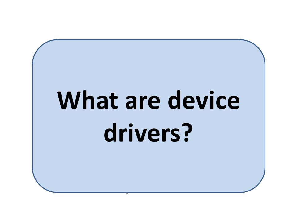 Device drivers provides a standard means of representing I/O devices that maybe manufactured by different companies.