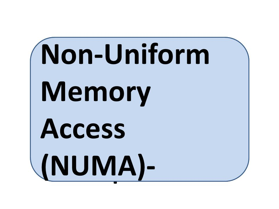 in which some parts of memory take longer to access than other parts Non-Uniform Memory Access (NUMA)-