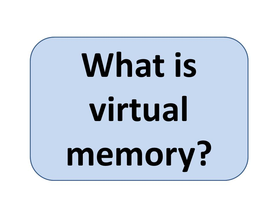 Virtual memory is a memory management technique for letting processes execute outside of memory.
