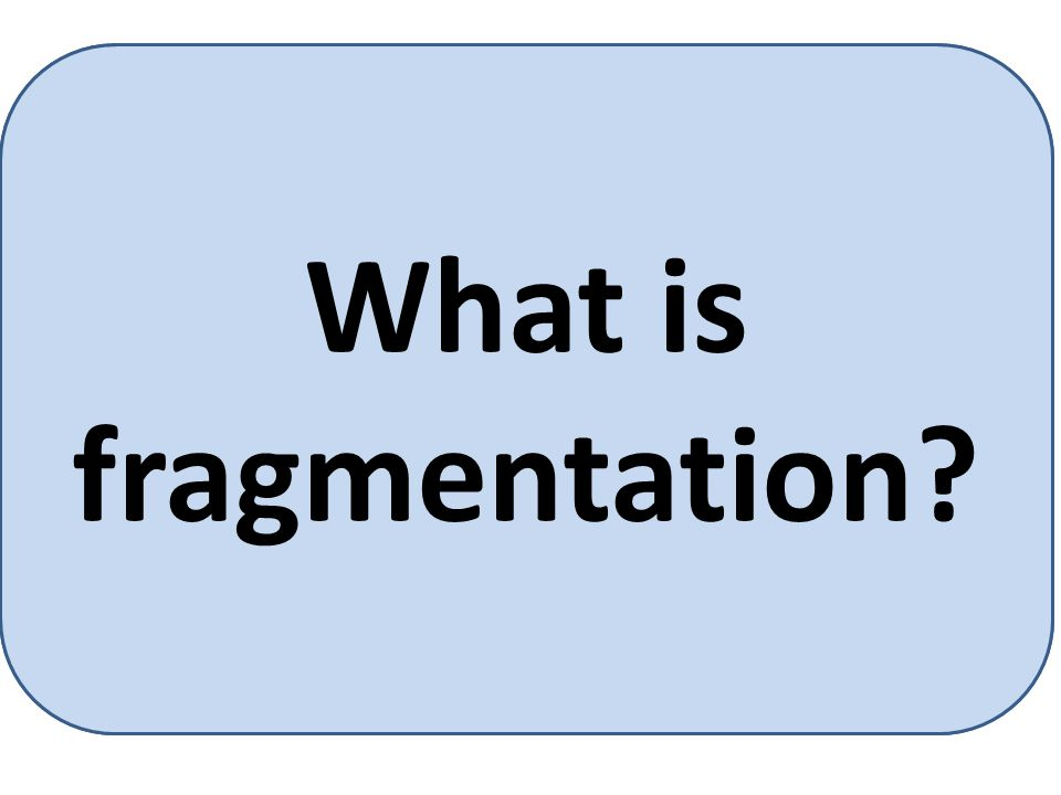 Fragmentation is memory wasted.