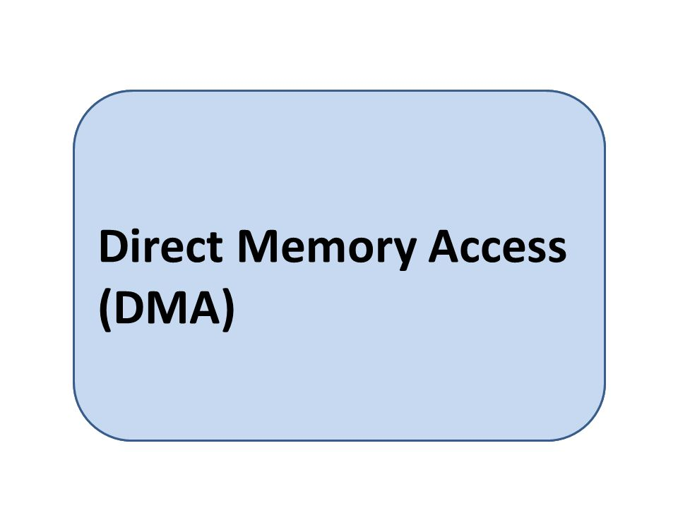 When a device controller transfers an entire block of data from its own buffer storage to memory without CPU intervention Direct Memory Access (DMA)