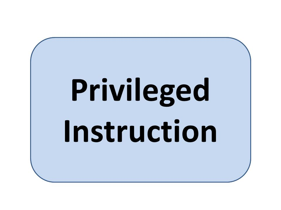 A computer instruction that can be executed only by a supervisory program - can only be executed only in kernel mode Privileged Instruction