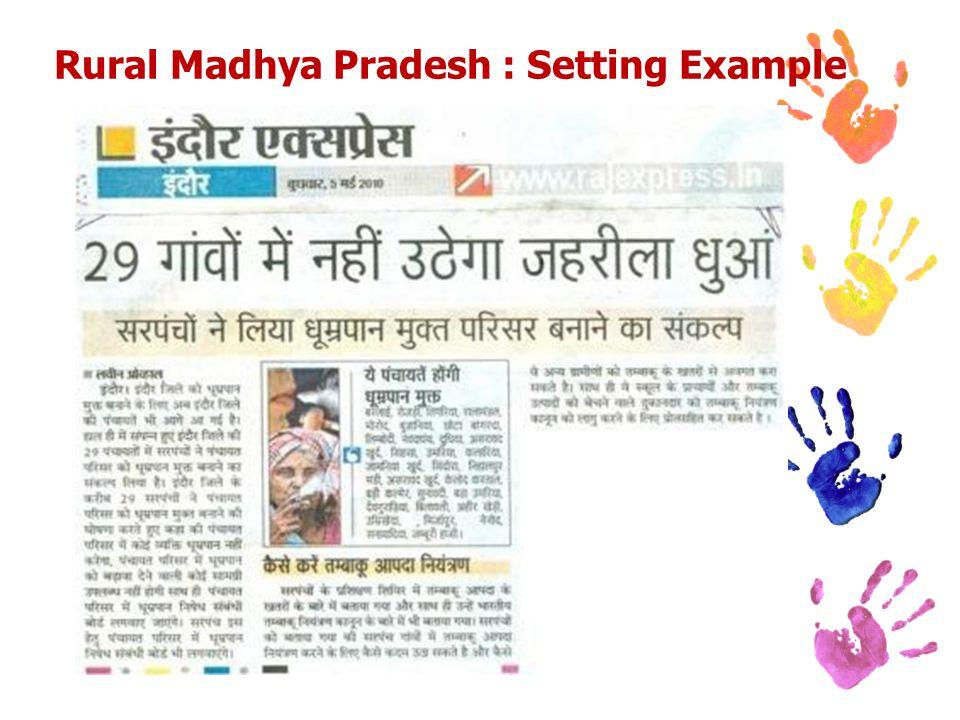 Rural Madhya Pradesh : Setting Example