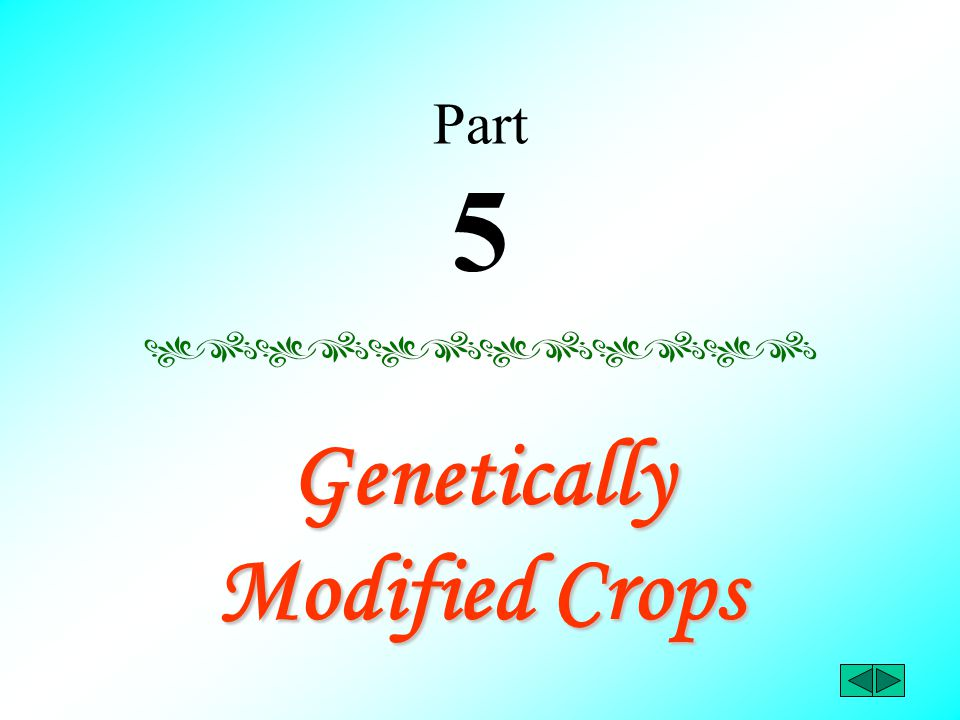 Part 5 Genetically Modified Crops
