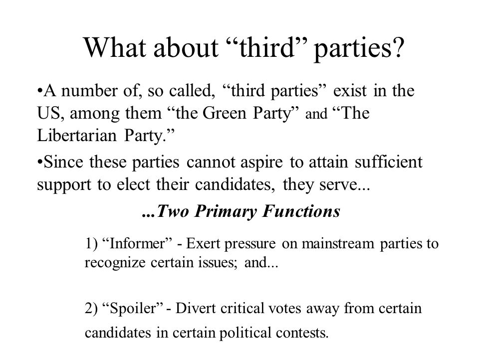What about third parties.