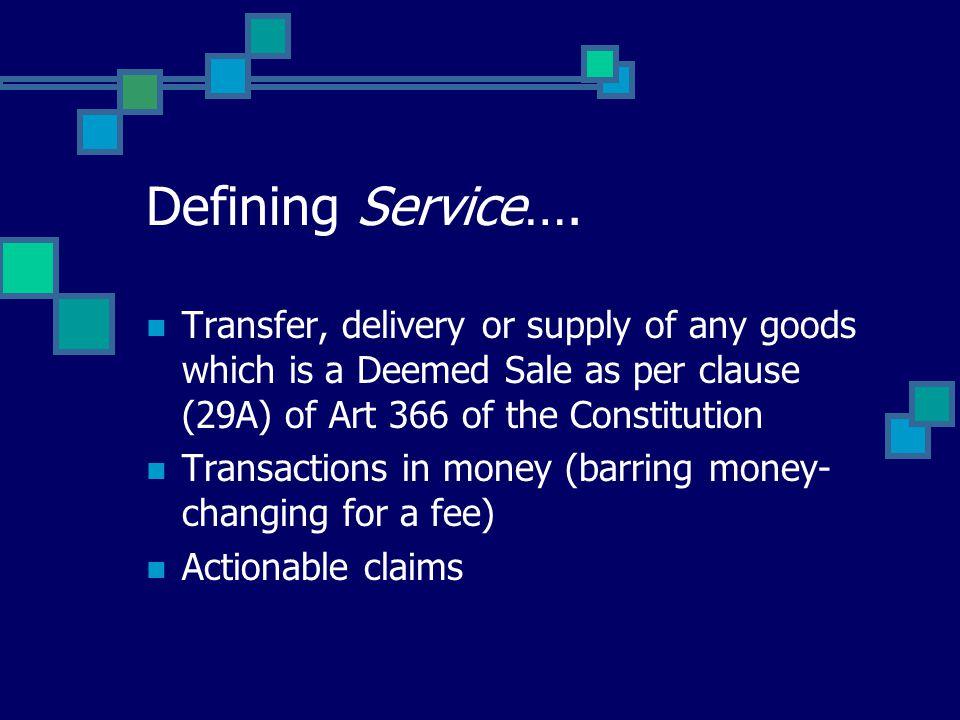 Defining Service….