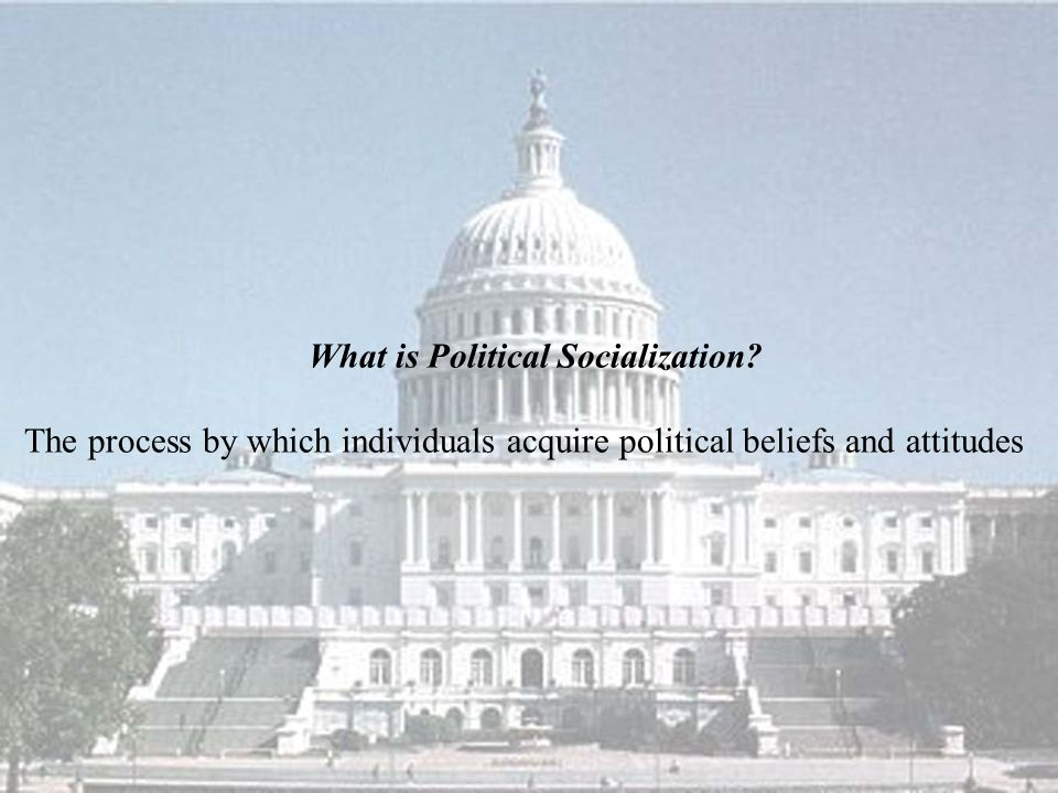 What is Political Socialization.