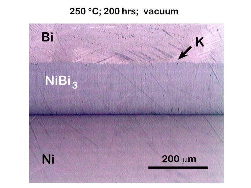 250  C; 200 hrs; vacuum