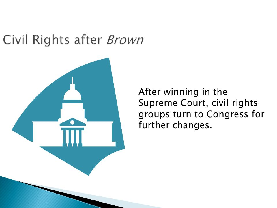 After winning in the Supreme Court, civil rights groups turn to Congress for further changes.