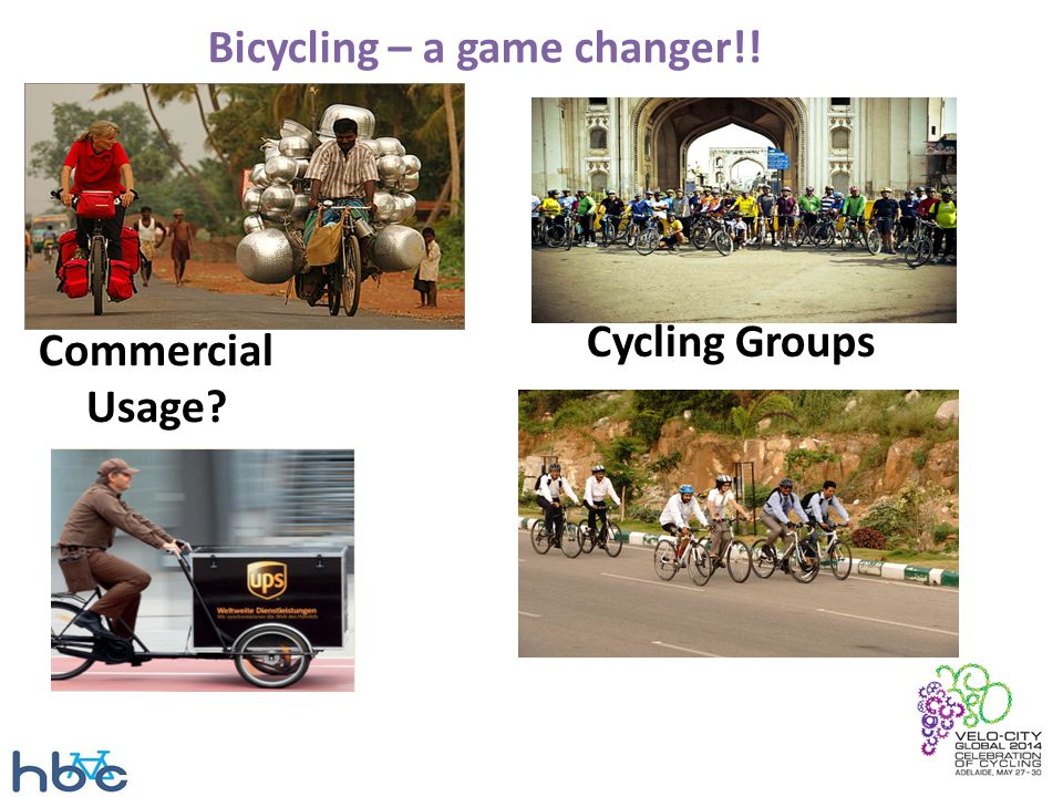 Bicycling – a game changer!! Commercial Usage? Cycling Groups