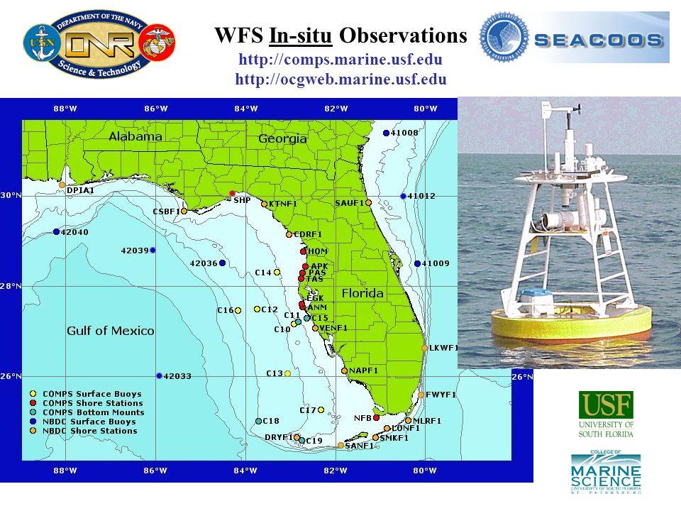 WFS In-situ Observations http://comps.marine.usf.edu http://ocgweb.marine.usf.edu