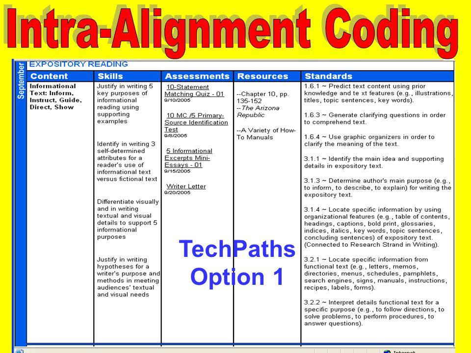 TechPaths Option 1