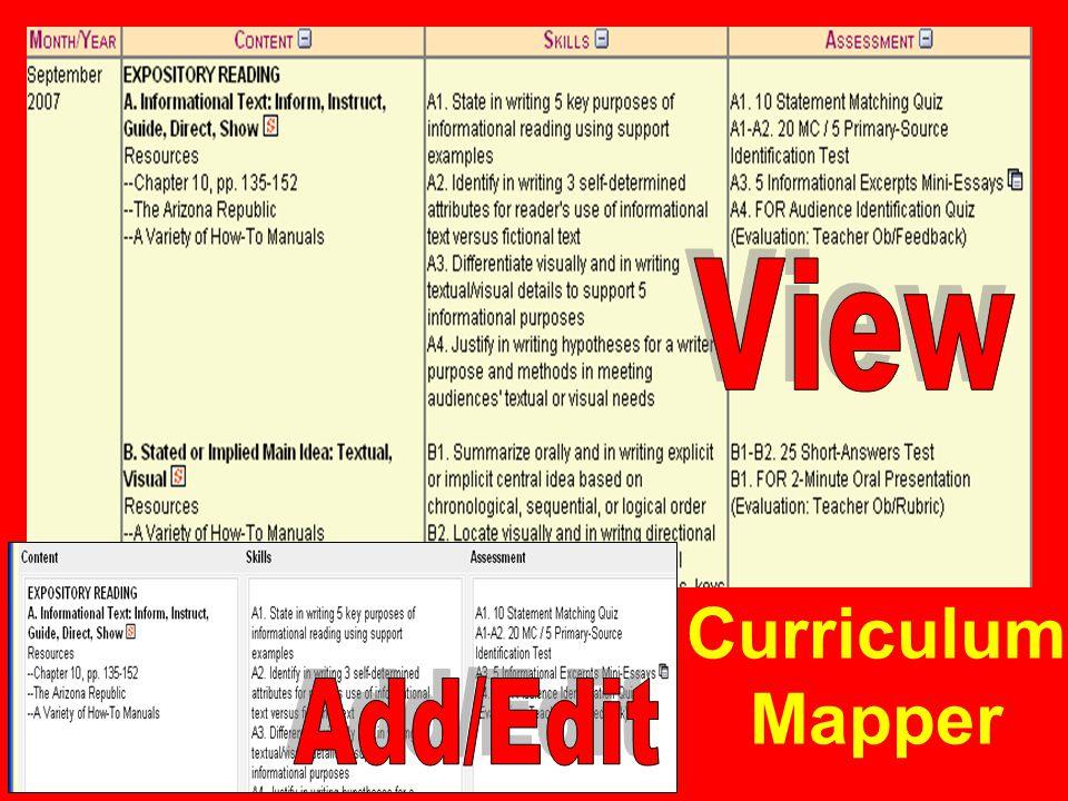 Curriculum Mapper
