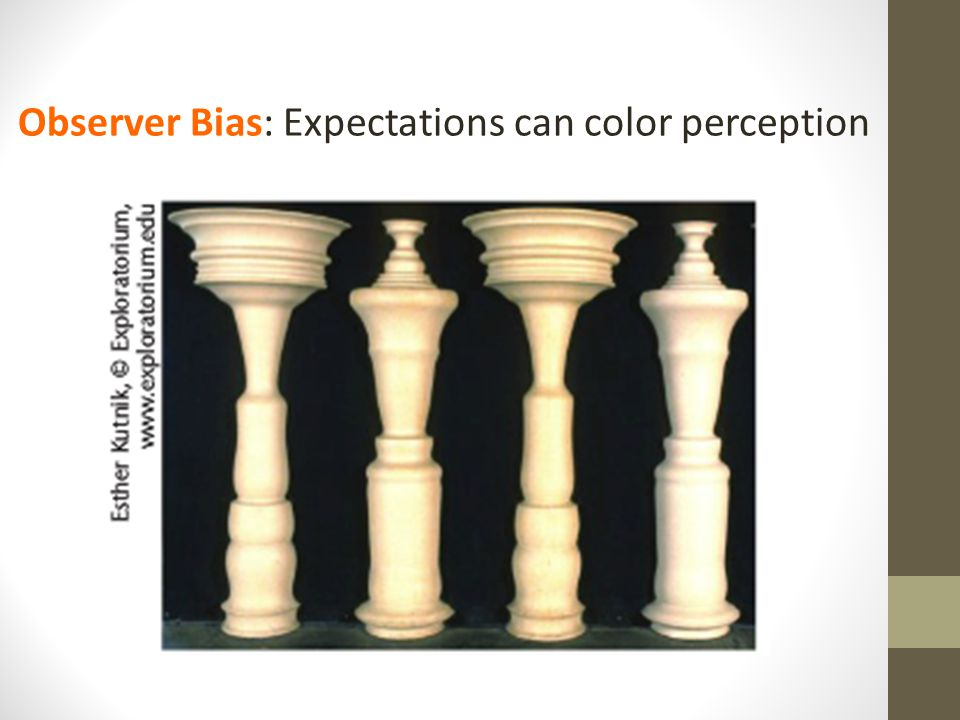 Observer Bias: Expectations can color perception