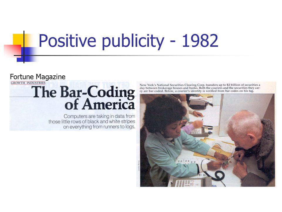 Positive publicity - 1982 Fortune Magazine