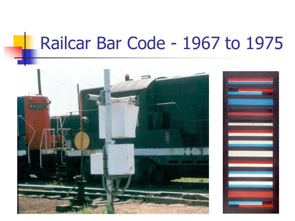 Railcar Bar Code - 1967 to 1975