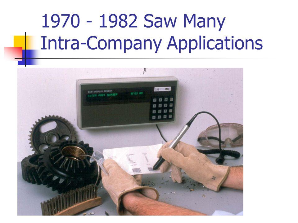 1970 - 1982 Saw Many Intra-Company Applications