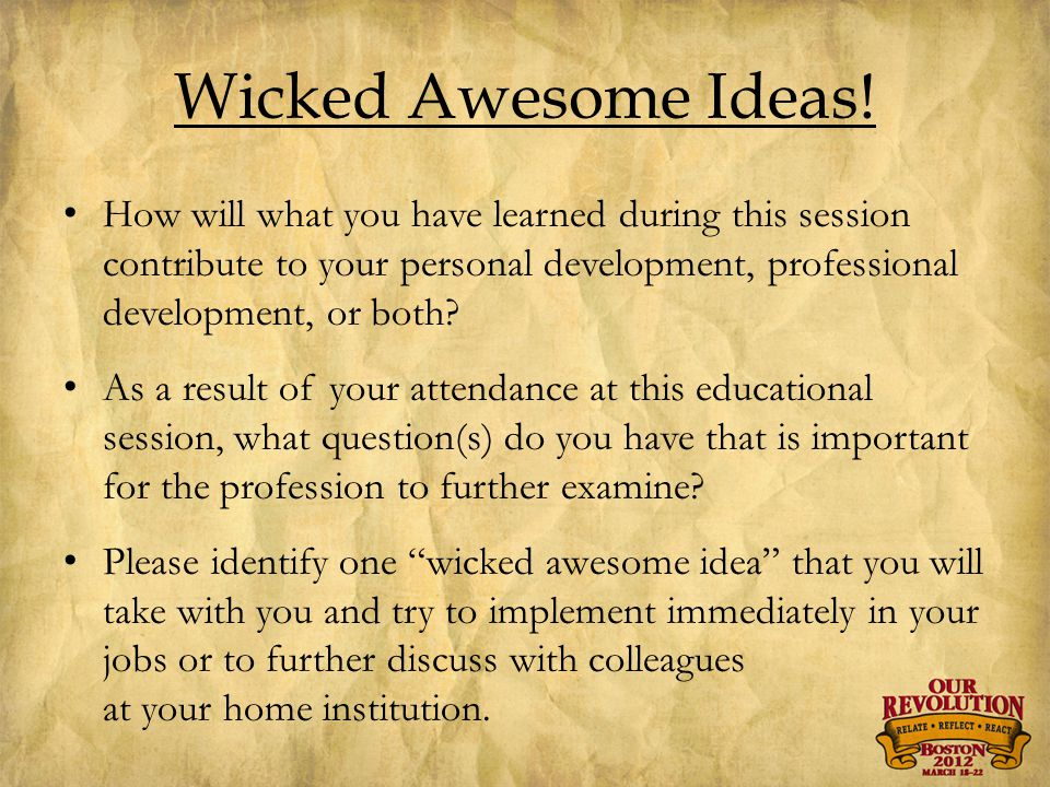 Wicked Awesome Ideas.