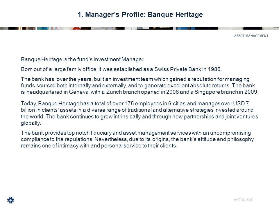 MARCH 2010 | ASSET MANAGEMENT 1.