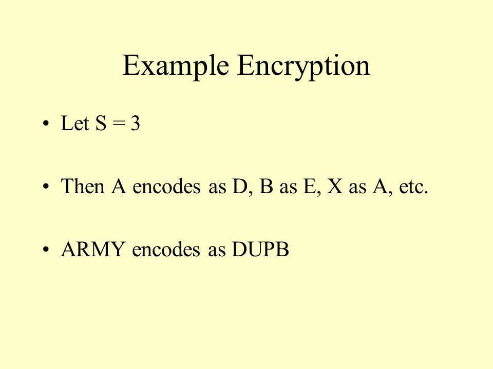 Problem With Caesar Cipher Because there are only 25 possible keys, one can decode a cipher text by brute force, by trying all possible keys (a computer makes that easy) Caesar cipher is a stream/substitution cipher, wherein each letter of plain text generates a letter of cipher text The structure of the plain text is preserved in the structure of the cipher text