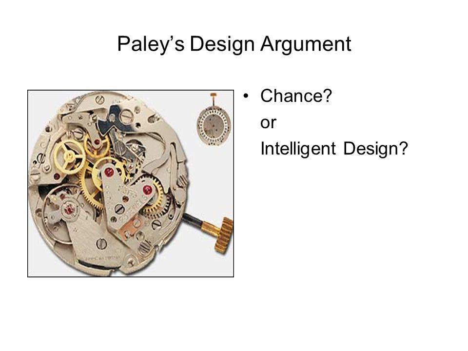 Chance? or Intelligent Design?