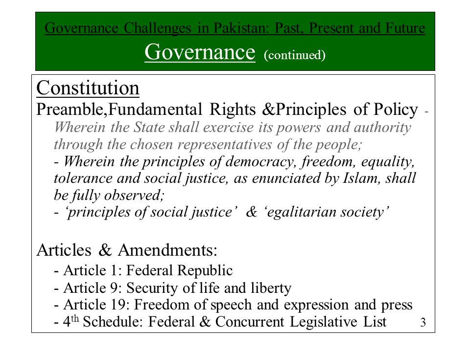 Constitution Preamble,Fundamental Rights &Principles of Policy - Wherein the State shall exercise its powers and authority through the chosen represen