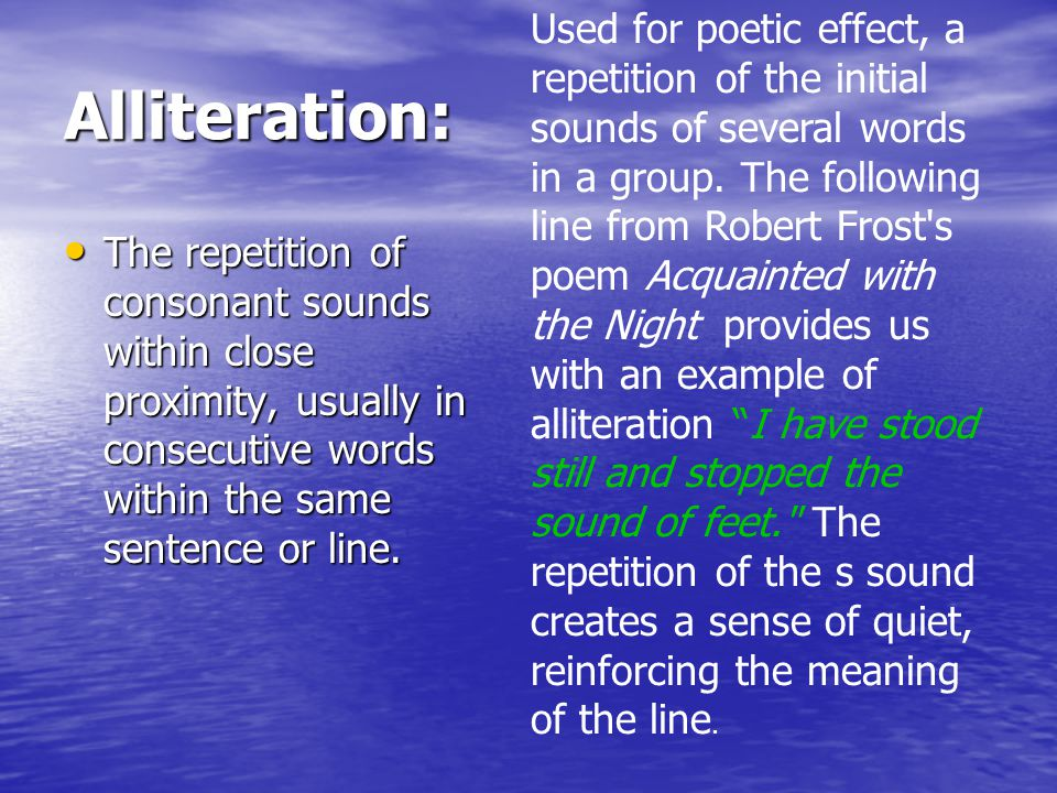 Allusion A reference in one literary work to a character or theme found in another literary work.