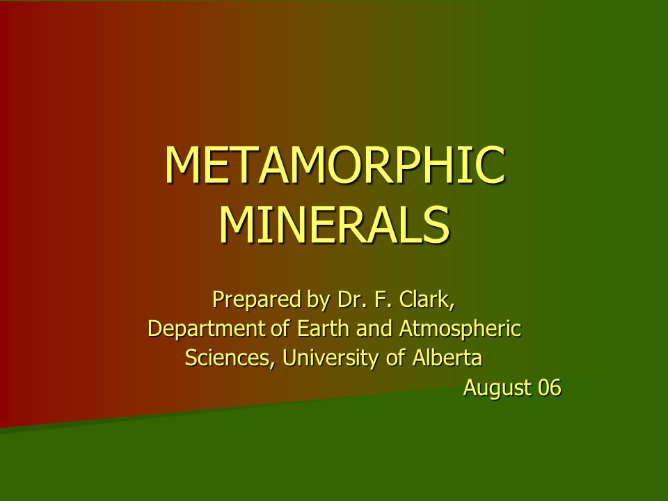 INTRODUCTION In metamorphic rocks are some minerals you likely haven't seen in igneous or sedimentary rocks so far.