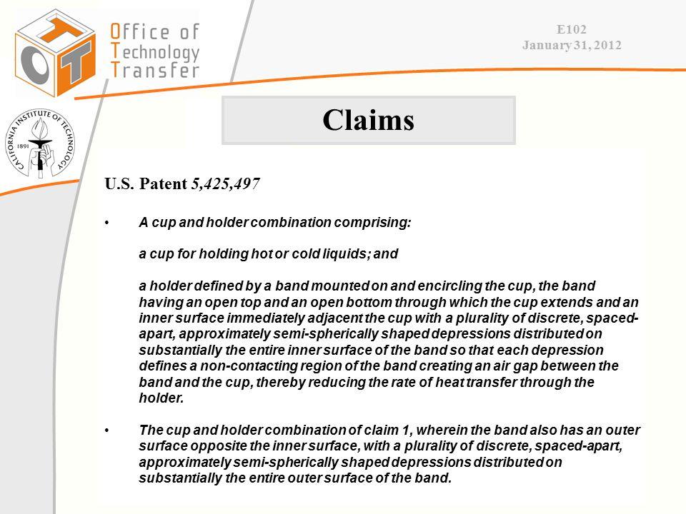 E102 January 31, 2012 U.S.
