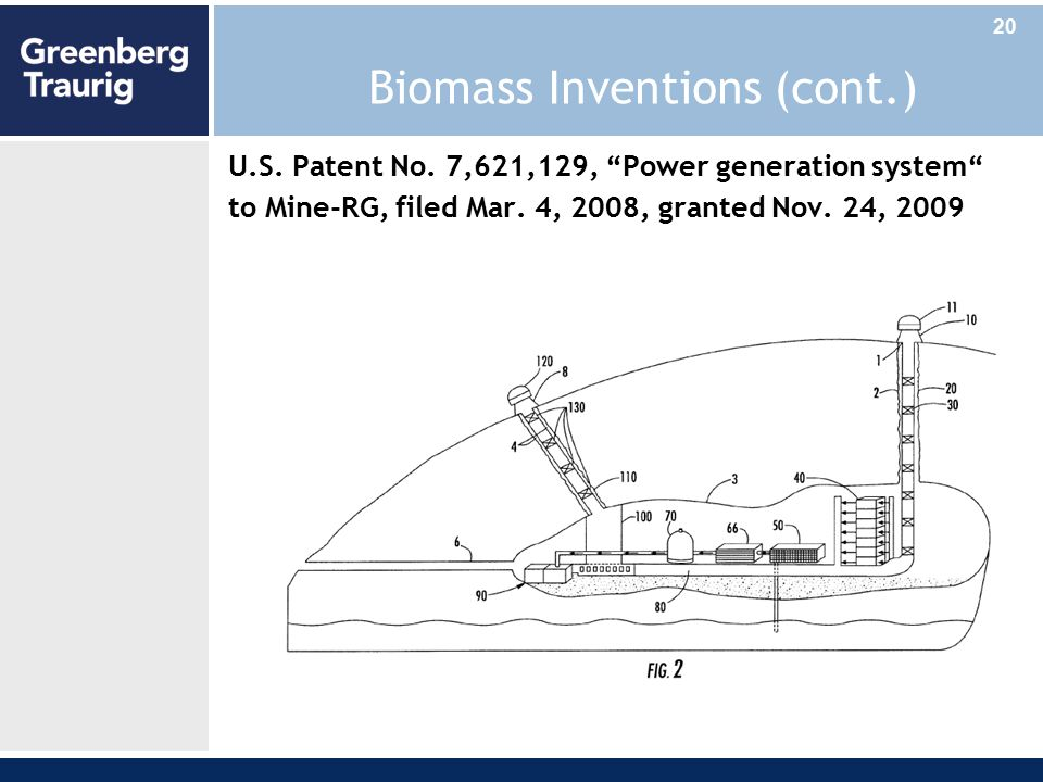 Biomass Inventions (cont.) U.S. Patent No.