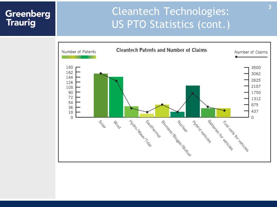 Cleantech Technologies: US PTO Statistics (cont.) 3