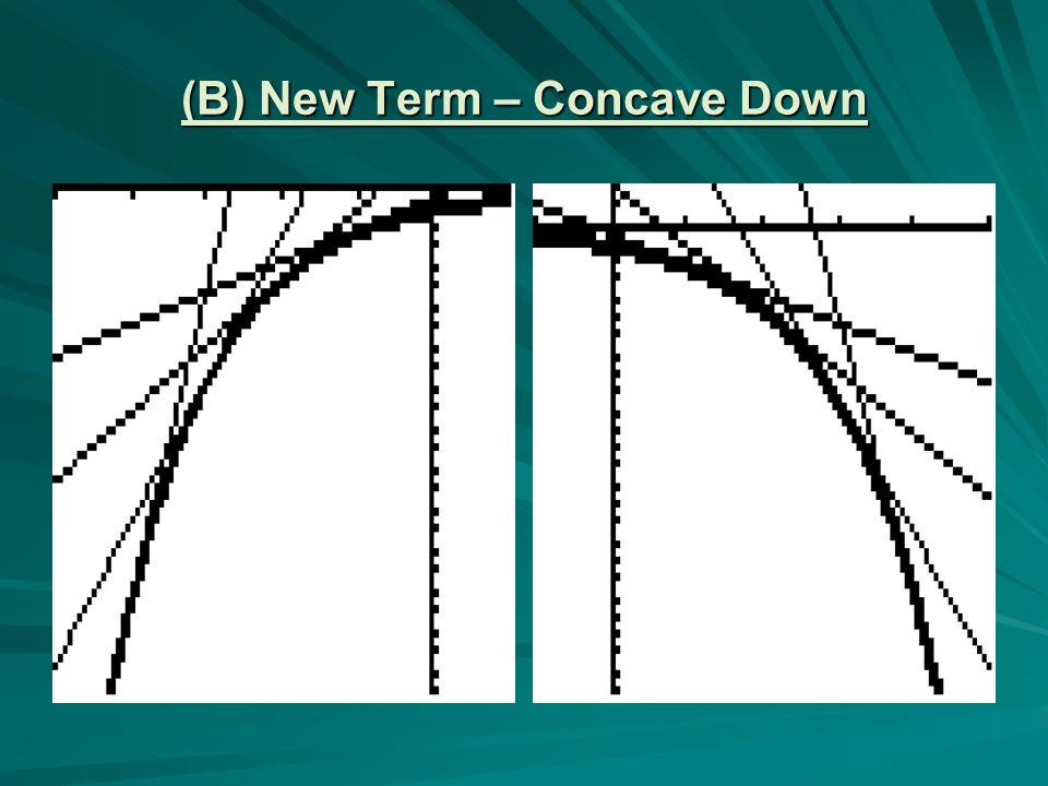(B) New Term – Concave Down