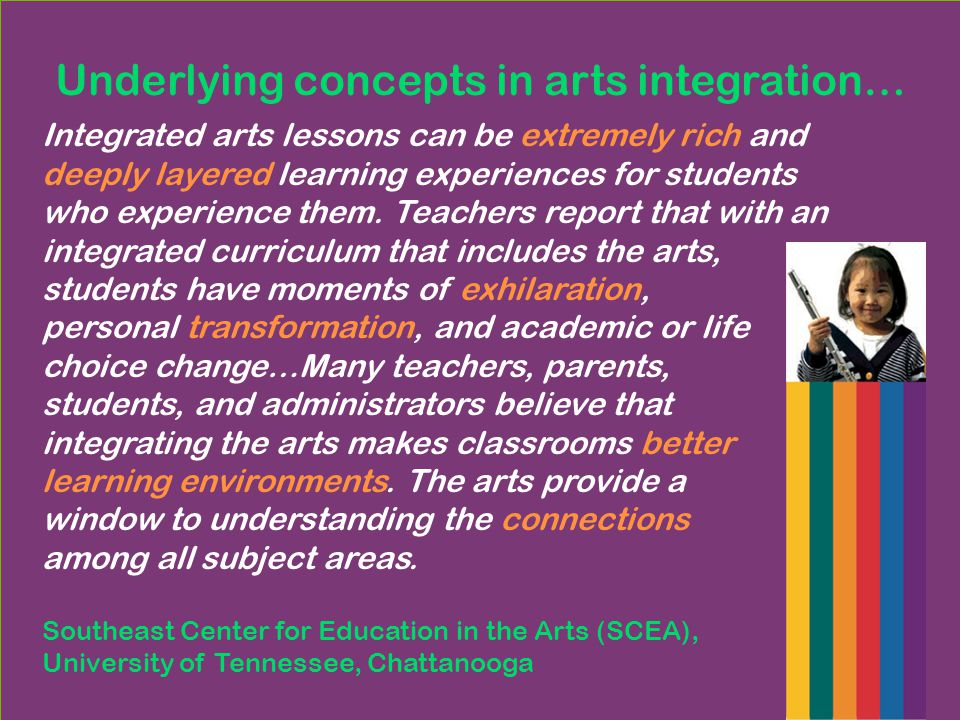 What exciting ideas jump out at you about arts integration.
