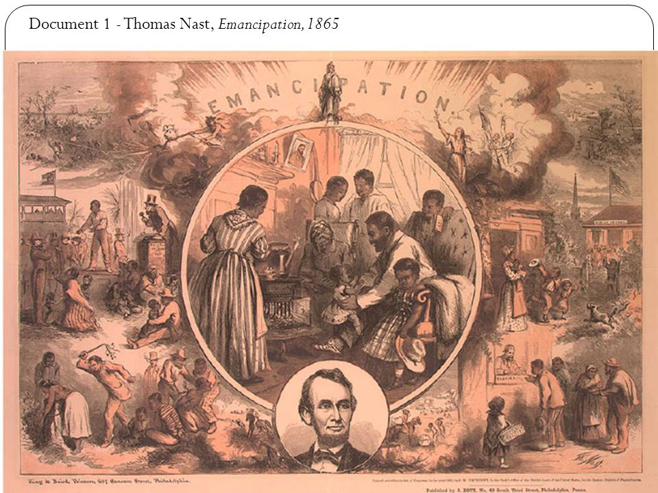Document 1 - Thomas Nast, Emancipation, 1865