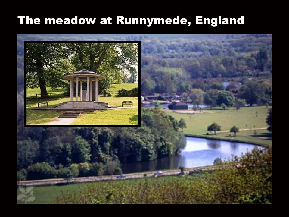 The meadow at Runnymede, England