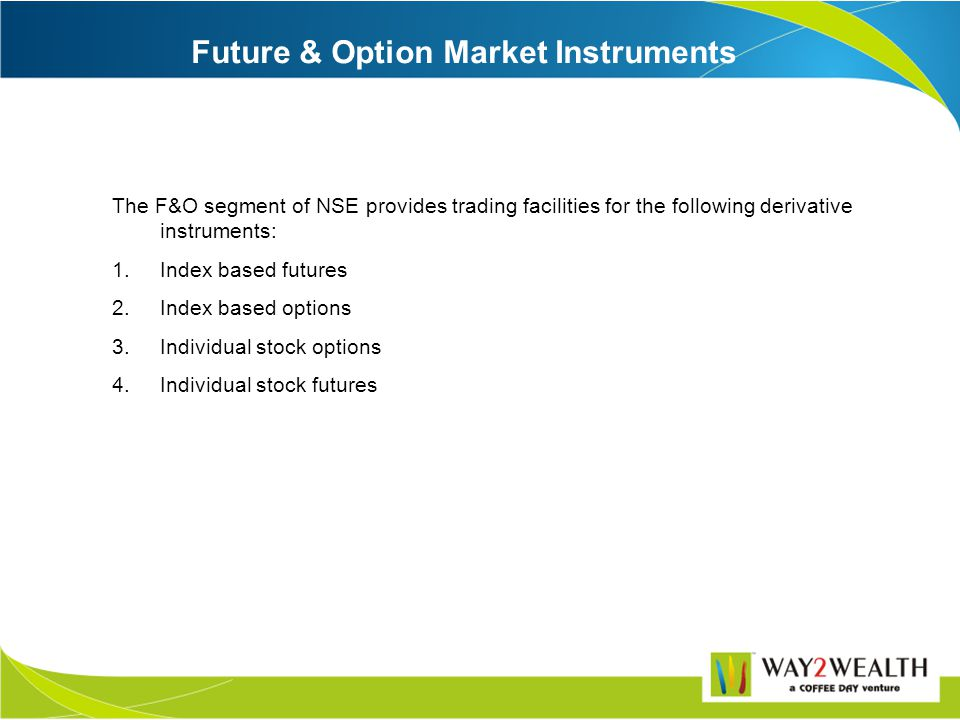 Index futures are the future contracts for which underlying is the cash market index. For example: BSE may launch a future contract on