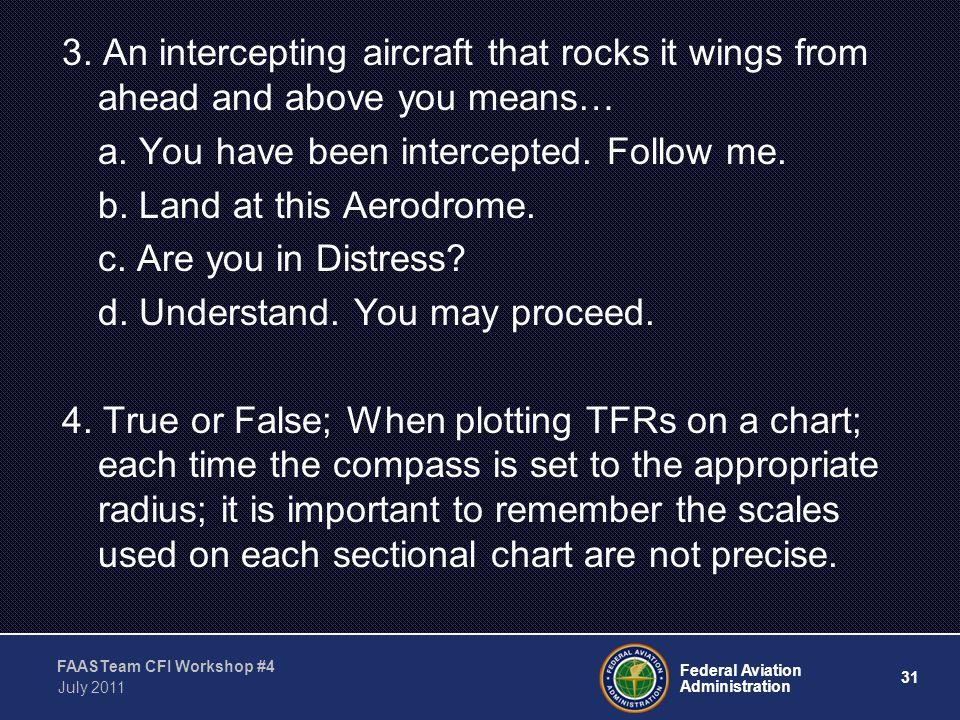 31 Federal Aviation Administration FAASTeam CFI Workshop #4 July 2011 3.