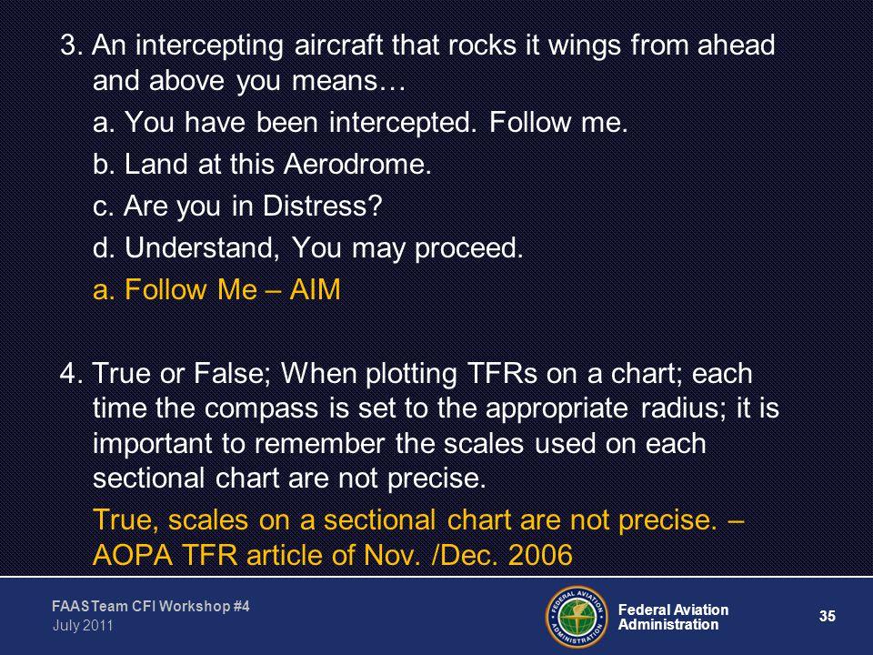 35 Federal Aviation Administration FAASTeam CFI Workshop #4 July 2011 3.