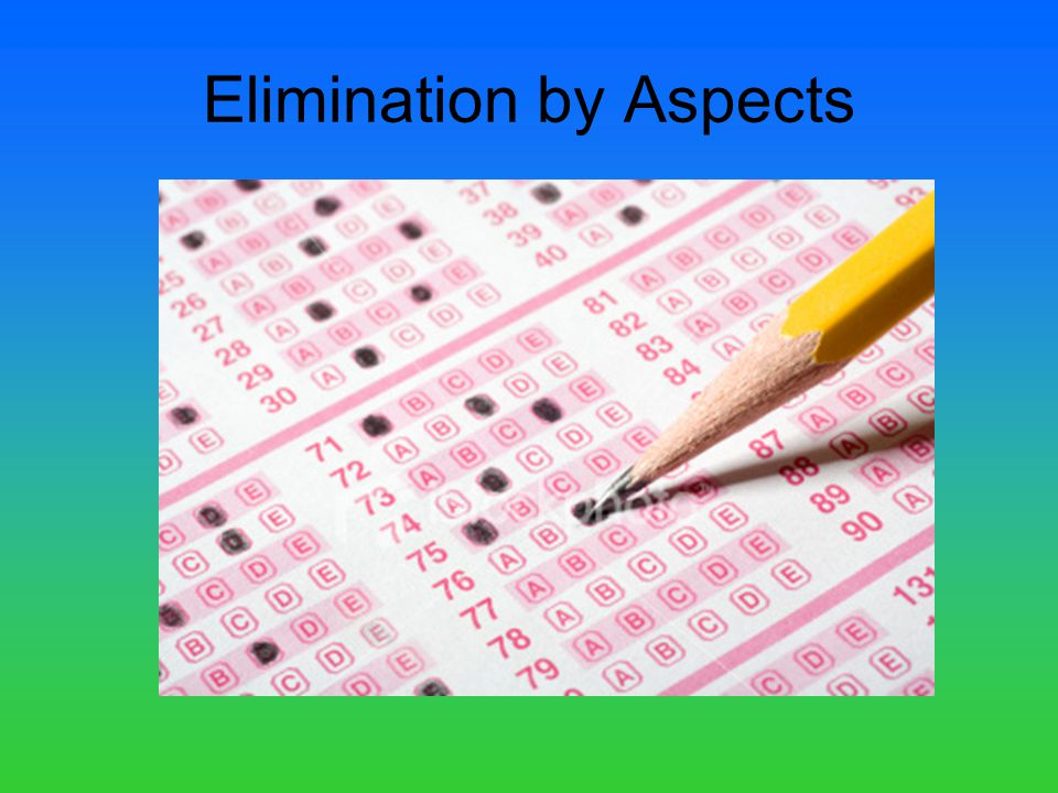 Elimination by Aspects