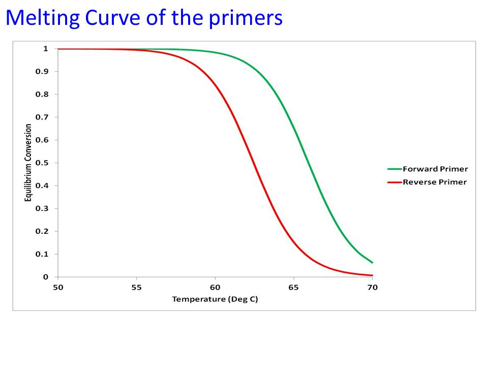 Melting Curve of the primers