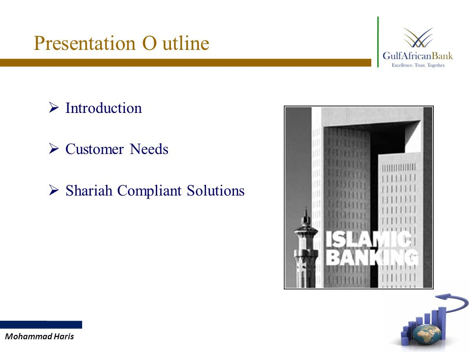Mohammad Haris Presentation O utline  Introduction  Customer Needs  Shariah Compliant Solutions