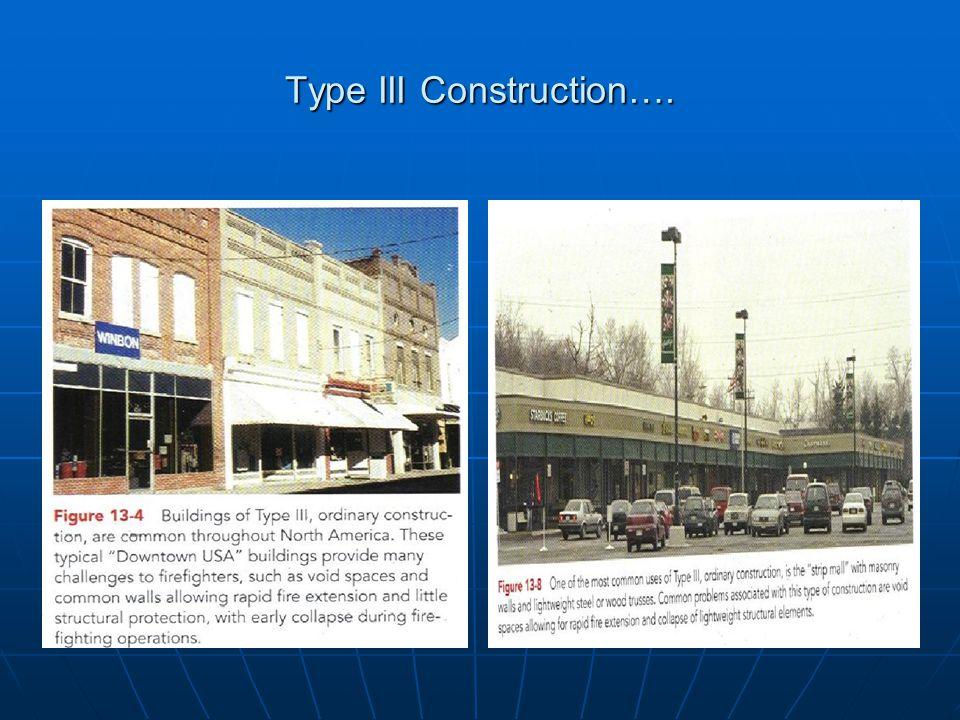 Type III Construction….