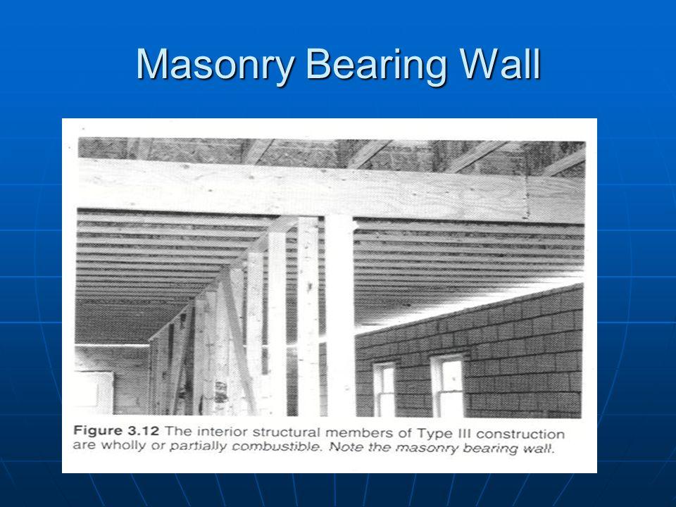 Masonry Bearing Wall