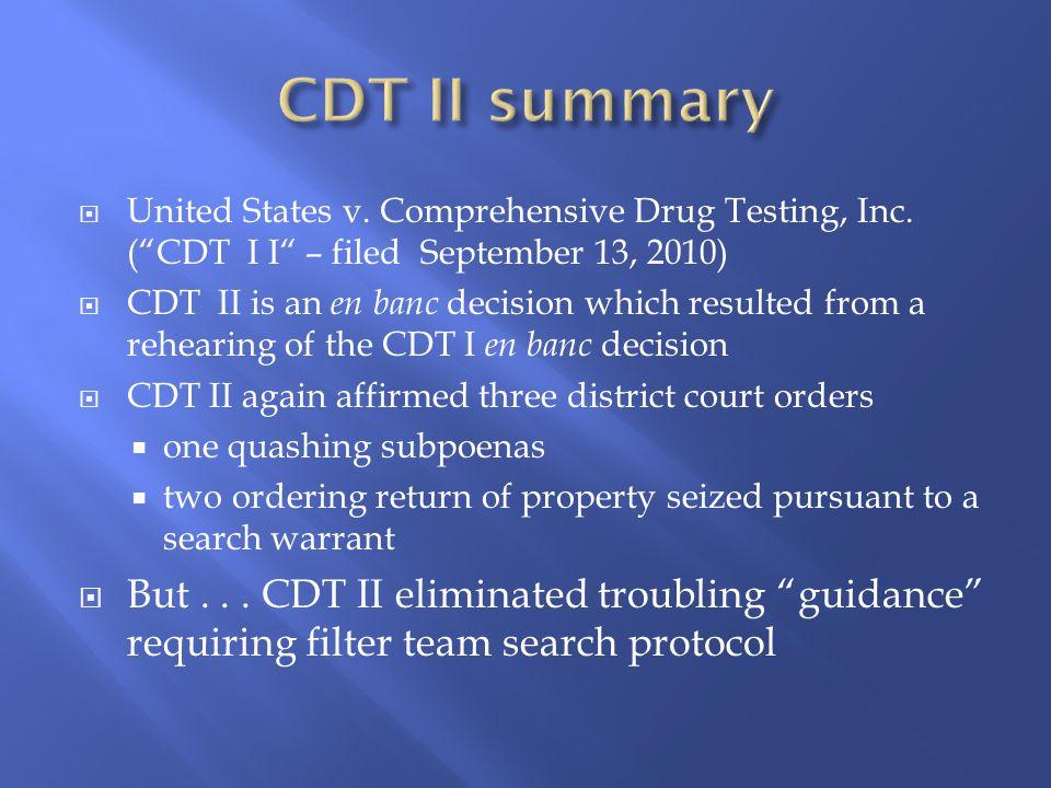  United States v.Comprehensive Drug Testing, Inc.
