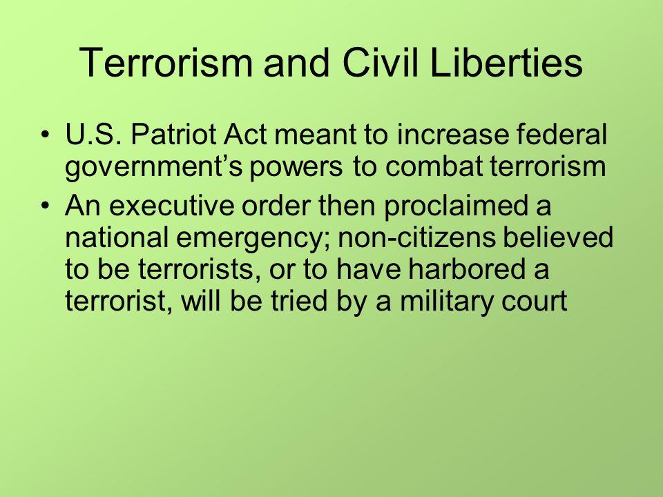 Terrorism and Civil Liberties U.S.