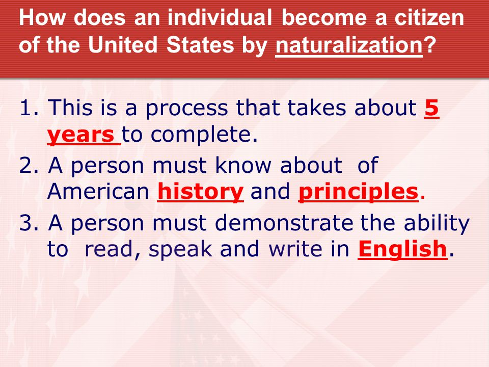 How does an individual become a citizen of the United States by birth.