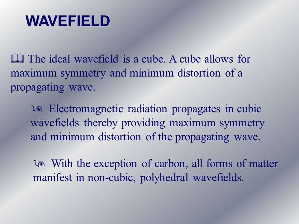 & The ideal wavefield is a cube.