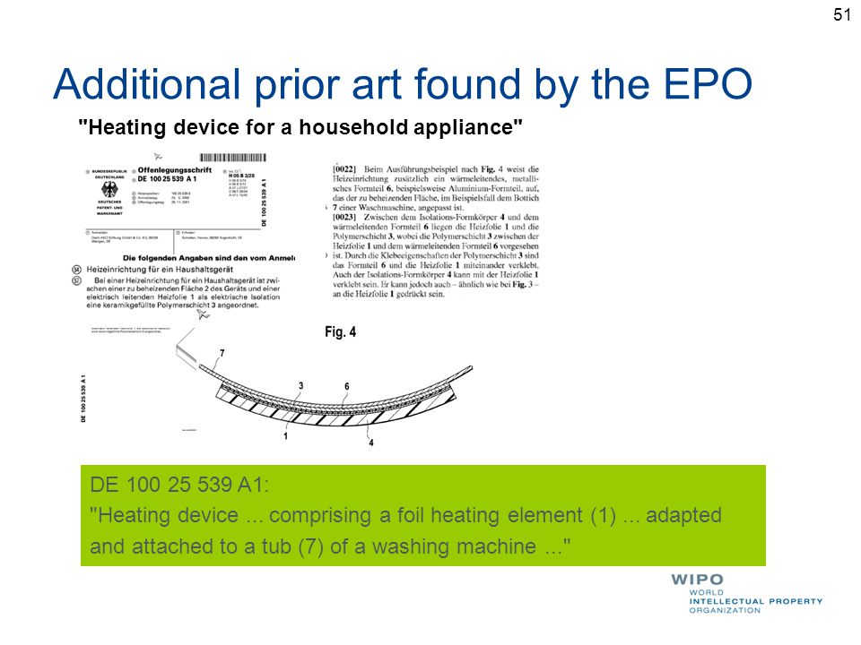 Additional prior art found by the EPO DE 100 25 539 A1: Heating device...